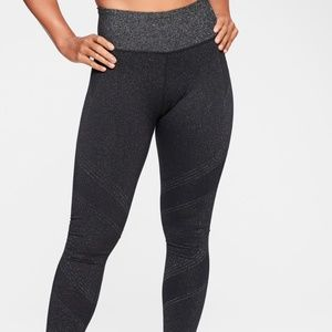 Athleta Lurex Twilight Tights size M Black